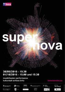 Plakat BeVoice Berlin 2016 Supernova
